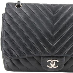 Chanel Lambskin Chevron Square Flap Bag